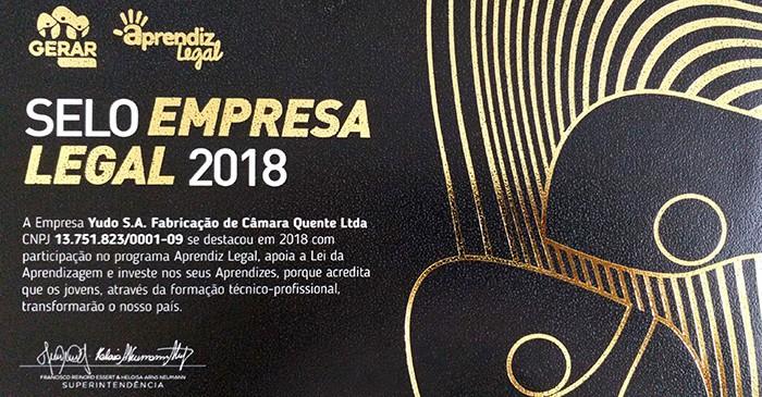 Selo Empresa legal 2018